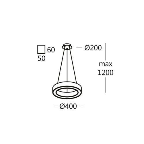 Подвесной светильник RINGO.40