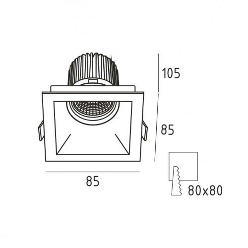 Точечный светильник GLEN.10S