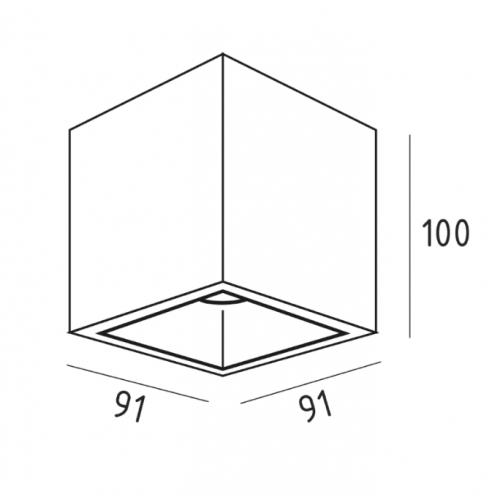 UBBO.10N накладной потолочный светильник | VOLTA