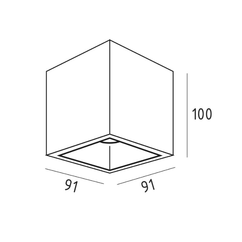 UBBO.10N накладной потолочный светильник   VOLTA