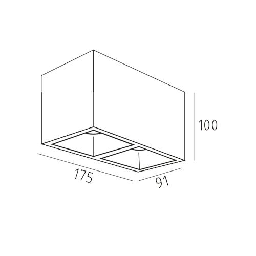 UBBO.10х2N накладной потолочный светильник