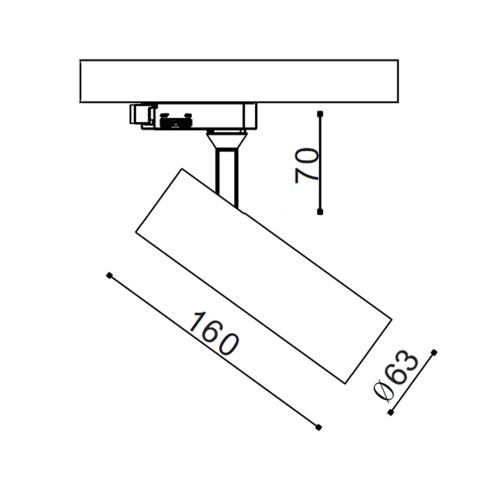 EOS.15 трековый светильник 15W