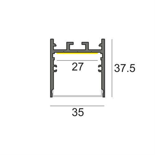 LW-WN35 универсальный профиль 2000 мм