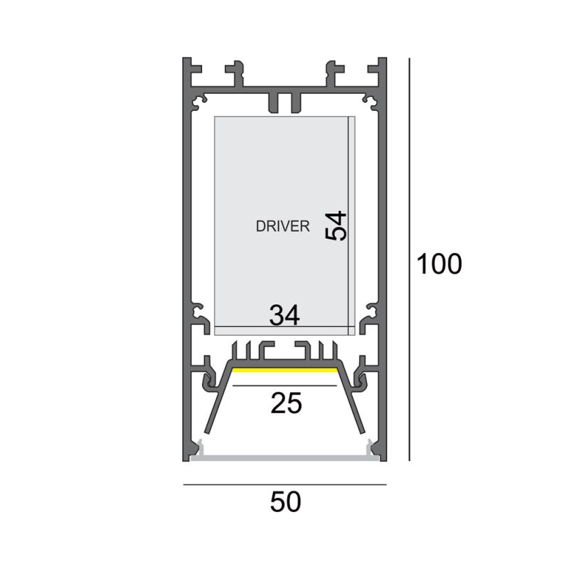 LW-P50-100 универсальный профиль 2000 мм