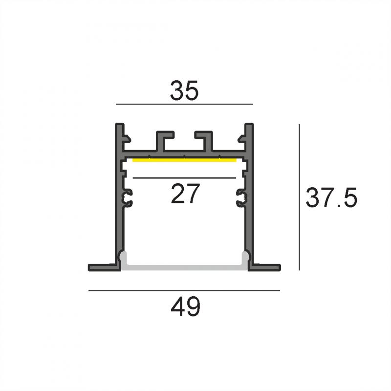 WN-31 встраиваемый профиль 2000 мм