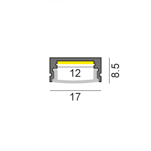 LW-AS1 накладной профиль 2000 мм