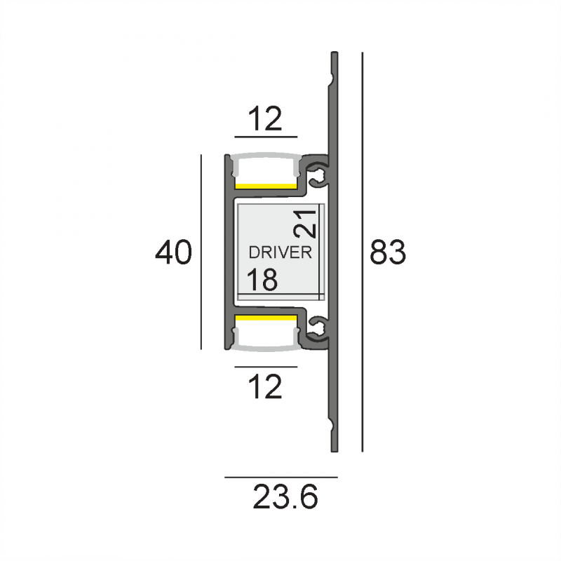 LW-AW4-1 накладной профиль 2000 мм