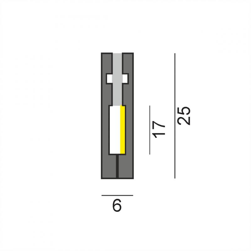 LP2006  встраиваемый профиль 2000 мм