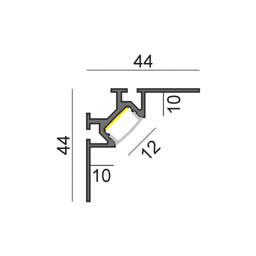 LW-СT3 угловой профиль под плитку/ГКЛ 2000 мм
