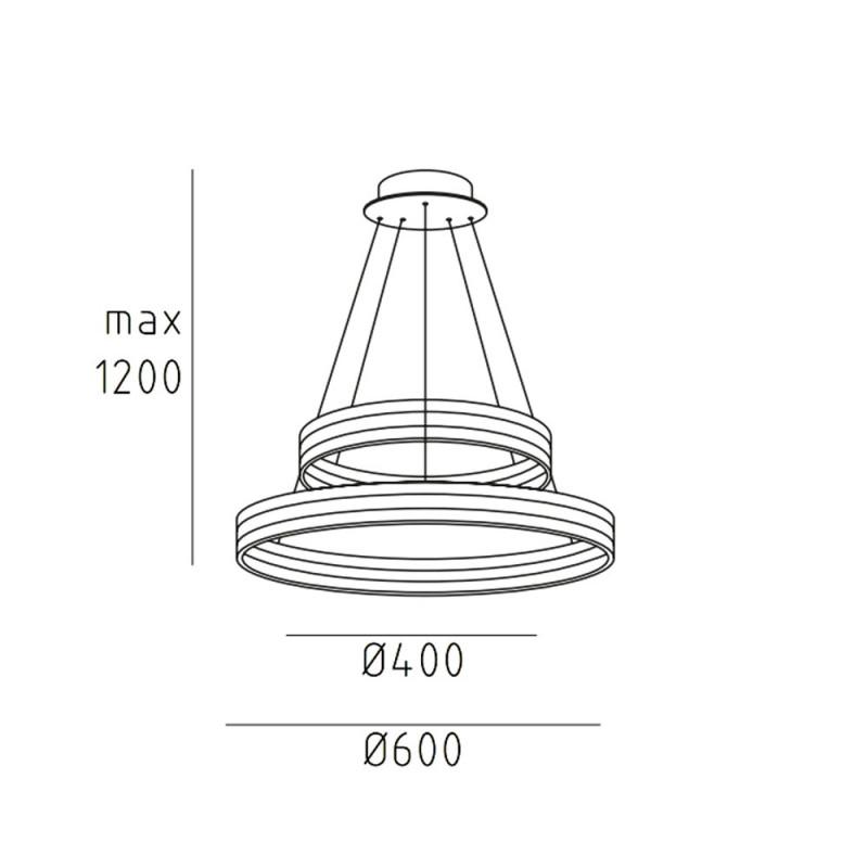 ECHODUO.60 подвесной светильник кольцо 120W