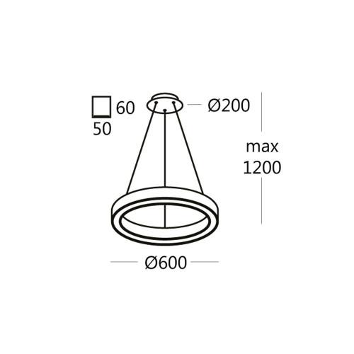 RINGO.60 подвесной светильник кольцо 36W
