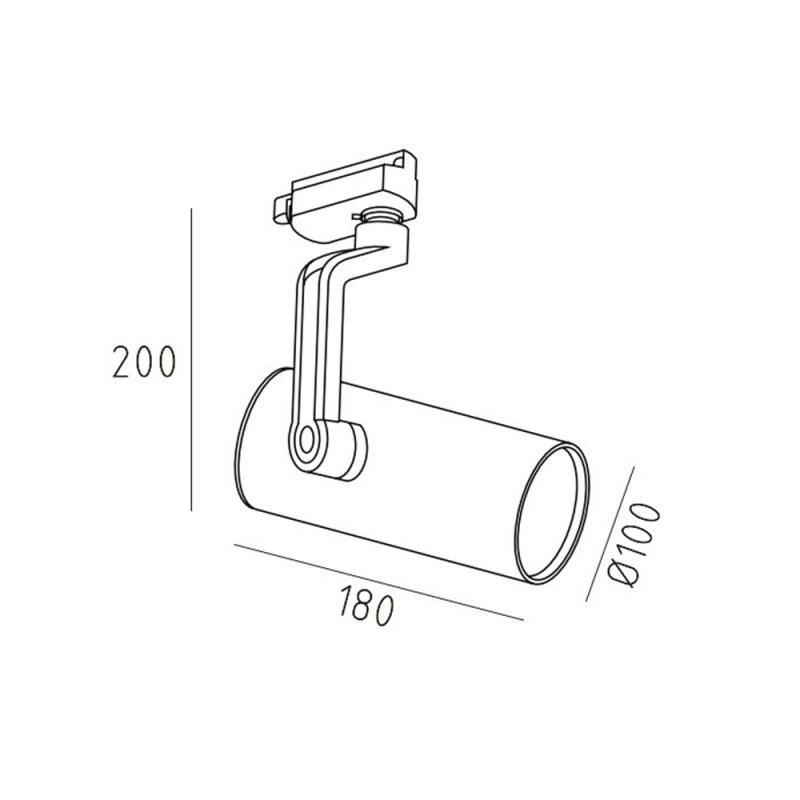 PROFI.30 трековый светильник 30W, серый