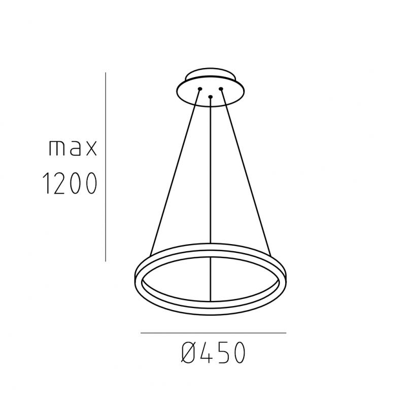 Подвесной светильник кольцо HOOP.45