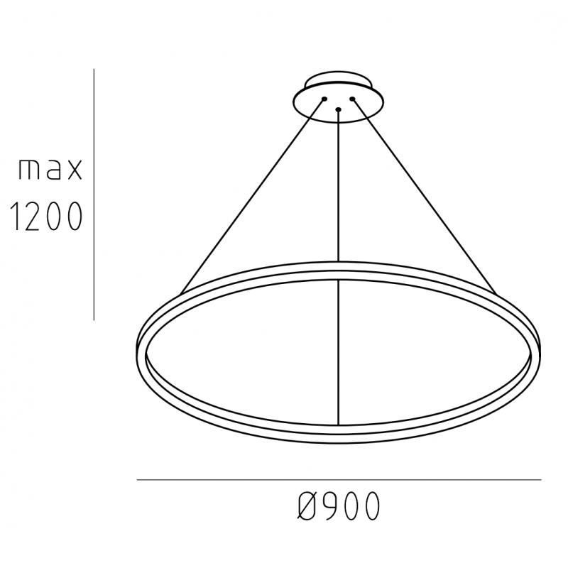 Подвесной светильник кольцо HOOP.90