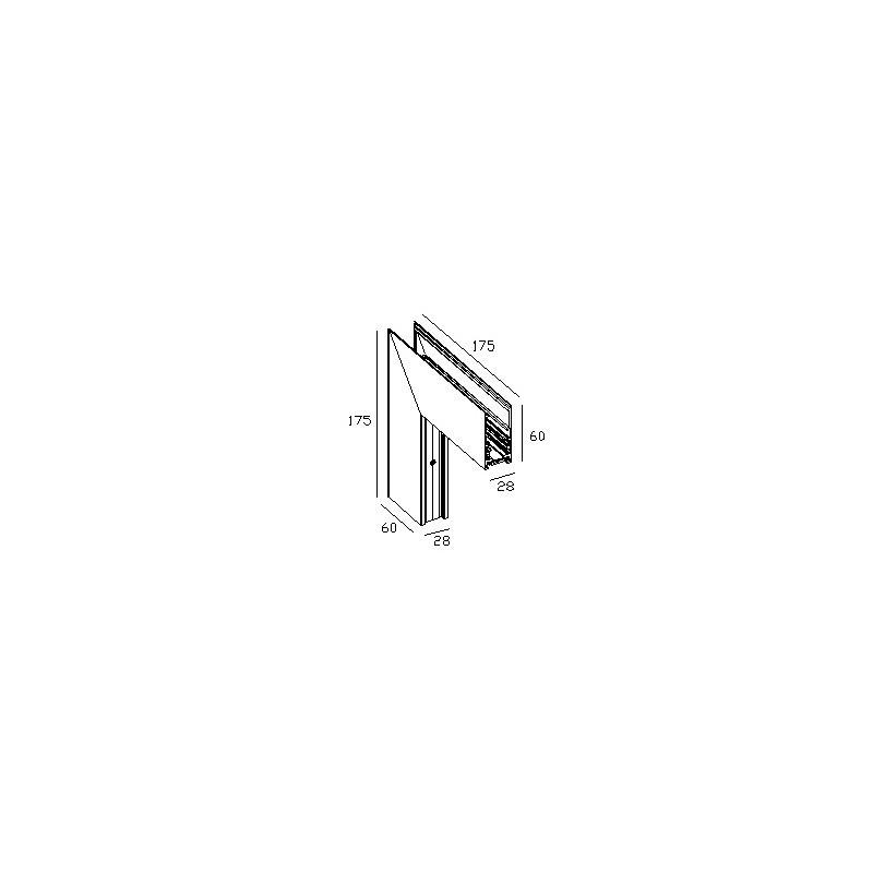 Наружний угол 90° для накладной магнитной системы 48 V