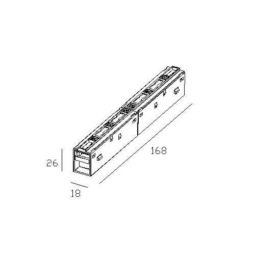 Соединитель прямой электрический для магнитного трека 48 V