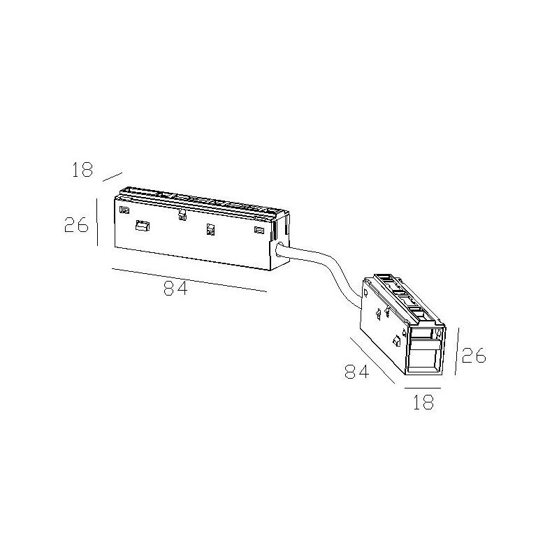 Соединитель  гибкий электрический для магнитного трека 48 V