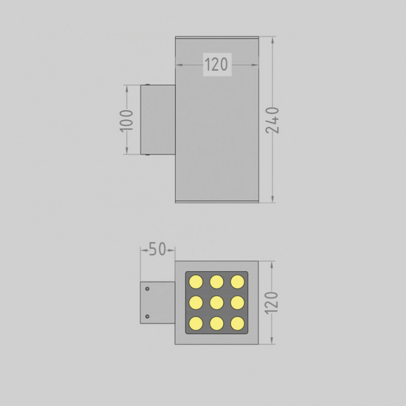 Box.120 up / down фасадный светильник