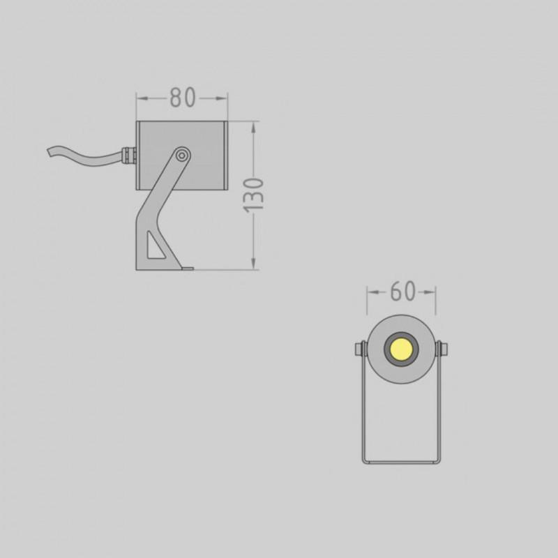 Tube.60 фасадный / грунтовый прожектор