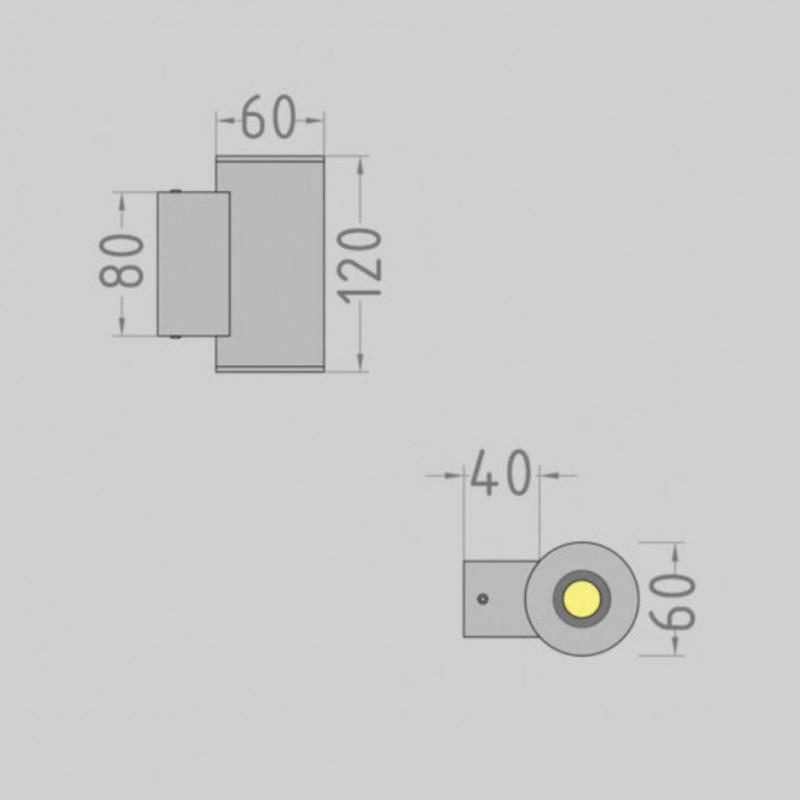 Tube.60 up / down фасадный светильник