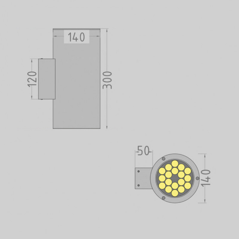 Tube.140 up / down фасадный светильник