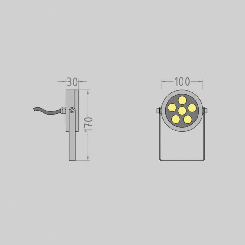 Slim.100 фасадный / грунтовый прожектор