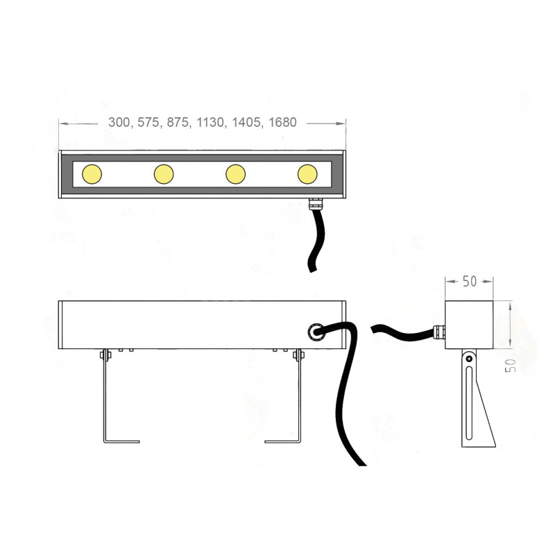 Line 1680 уличный фасадный светильник
