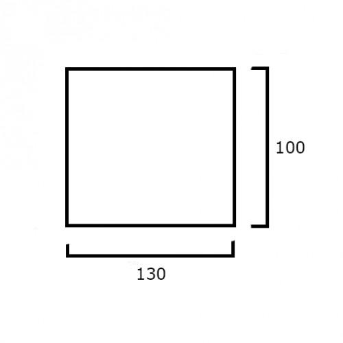 GISLA черный накладной светильник 15W