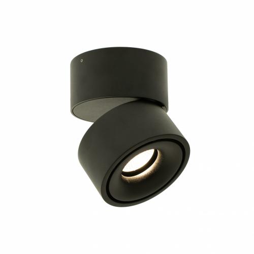 X-MAN.13N черный накладной поворотный светильник 13W