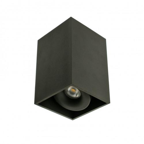 SOLID.8 черный накладной светильник 8W