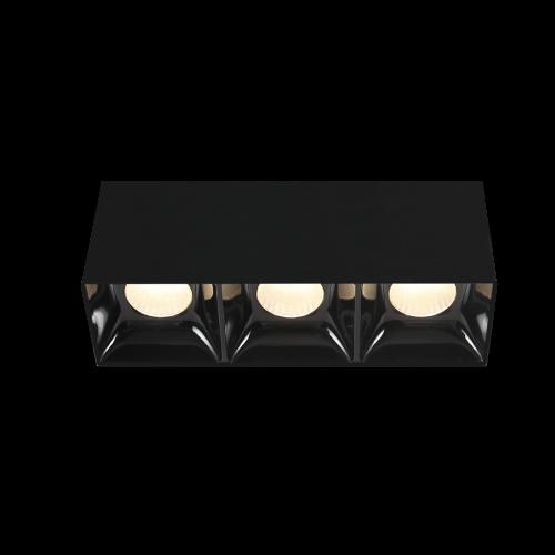 BET.7х3 черный накладной светильник 3х7W